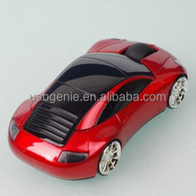 Amusing car shaped 3D optical wireless/air computer mouse with character. Best gift for boys!