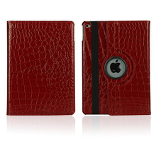 Crocodile Leather 360 degree Rotational Stand Case for ipad air 2