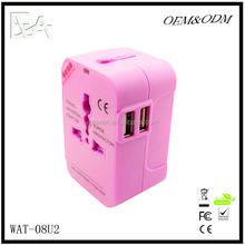 Alibaba co uk new products New Stylish Travel Plug All-in-One converter dual usb adapter plug