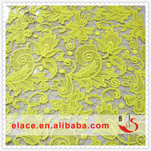 Discount product beautiful color orange 100% polyester fabric Lace Fabric Importers