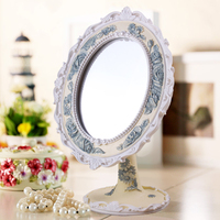 2015 New Arrivals peacock bule flower decorate mirror work embroidery designs modern toilet dresser with mirror