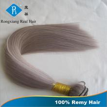 Hot Sale Brazilian Straight Hair Very Soft Virgin Hair grey human hair weaving