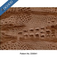 pet film designed crocodile hydrographic pattern for leather heat transfer printing
