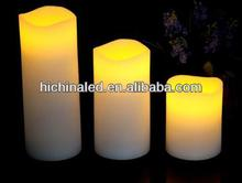 Melted Top edge candle, Flameless led candle,set 3 with remote control