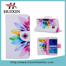 Factory custom printing light leather phone case wallet for samsung s6