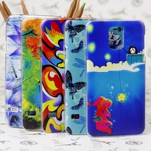 UV 4D embossed double color printed cases for samsung galaxy S4 S5 S6 i9600 animal painting