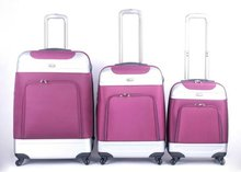 2012 colorful 3 pieces hardside carry on luggage set