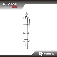 New design steel garden obelisks plant support