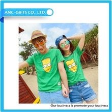 custom design cheap couple t shirts for promotion