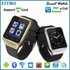 100% Latest Customs LOGO 5.0 Camera Wifi GPS FTB21 touch screen gsm smart phone watch