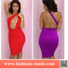 2015 Women Bandage Backless Sexy Hollow out Dress