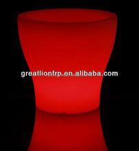 GR0840 Recyclable rotational light up flower pot, garden planter, led lighting plastic planter