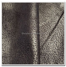 fashion design bronzing suede textile/ cheap suede