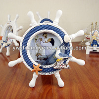 Decorative wooden boat helm