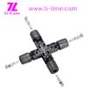 T4-Cross Connector x mc4 connector solar led light solar cell price