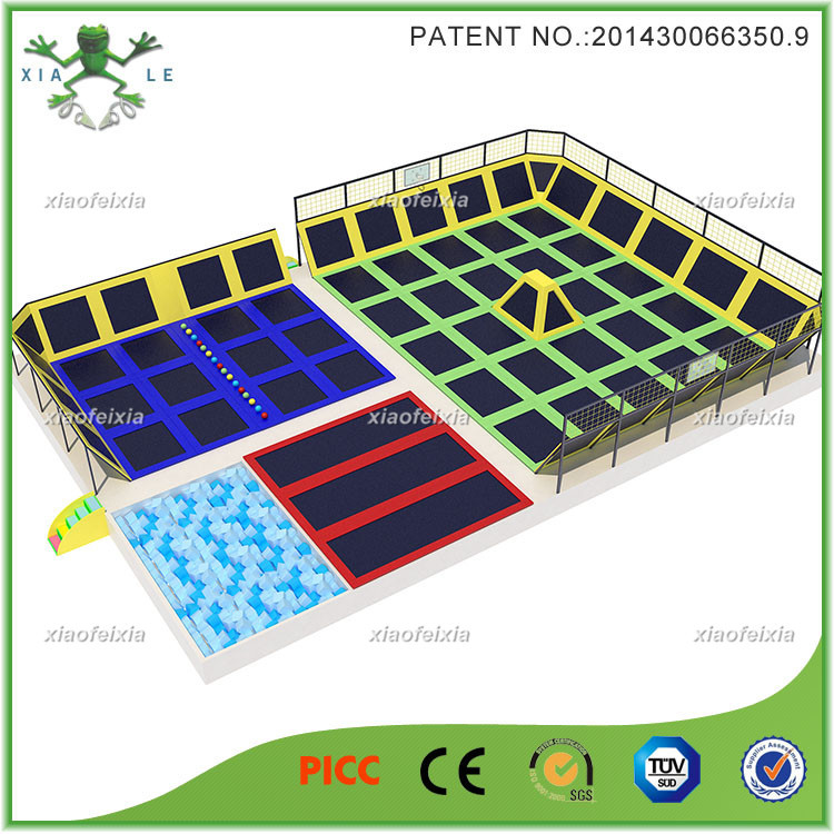 Super cool professional design kids indoor trampoline park for Indoor trampoline park design manufacturing