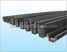 Priced direct selling large amo shape structure hot rolled steel sheet pile 400x150x13x9000 in china U AND Z Steel sheet pile