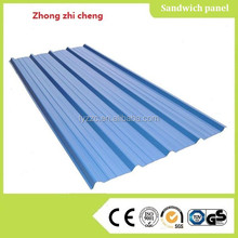 residential corrugated steel roofing sheets blue color steel roofing metal siding panels
