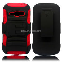 3 in 1 heavy duty kickstand hybrid combo case for HTC One M7