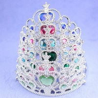 Fashion wholesale plastic crowns and tiaras headbands for girls cheap price
