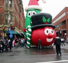 gaint inflatable Veggie Tales Larry and Bob holiday parade balloon for advertising