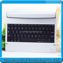 Silver Aluminum Wireless Bluetooth Keyboard Ultrathin Case For iPad Air 2/for iPad 6