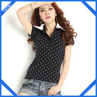 2014 new design wholesale polo shirts for women
