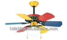 SHD3002 ventilador de techo con pilas con láminas coloridas