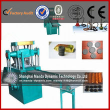 Barbecue charcoal making manufactured by shanghai cylinder shape BBQ coal hydraulic briquette machine