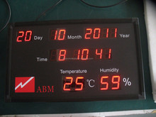 led display screen moving messages/100% Response Rate/BTI-C20110107B Calendar with Humidity And Temperature LED Display