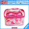 wholesale price pvc covered canvas very loving or loyal cosmetic bag