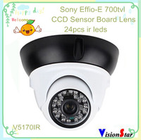 Wholesale price 700 tvl sony effio-e cctv ccd ir dome infrared camera for indoor with better night vision