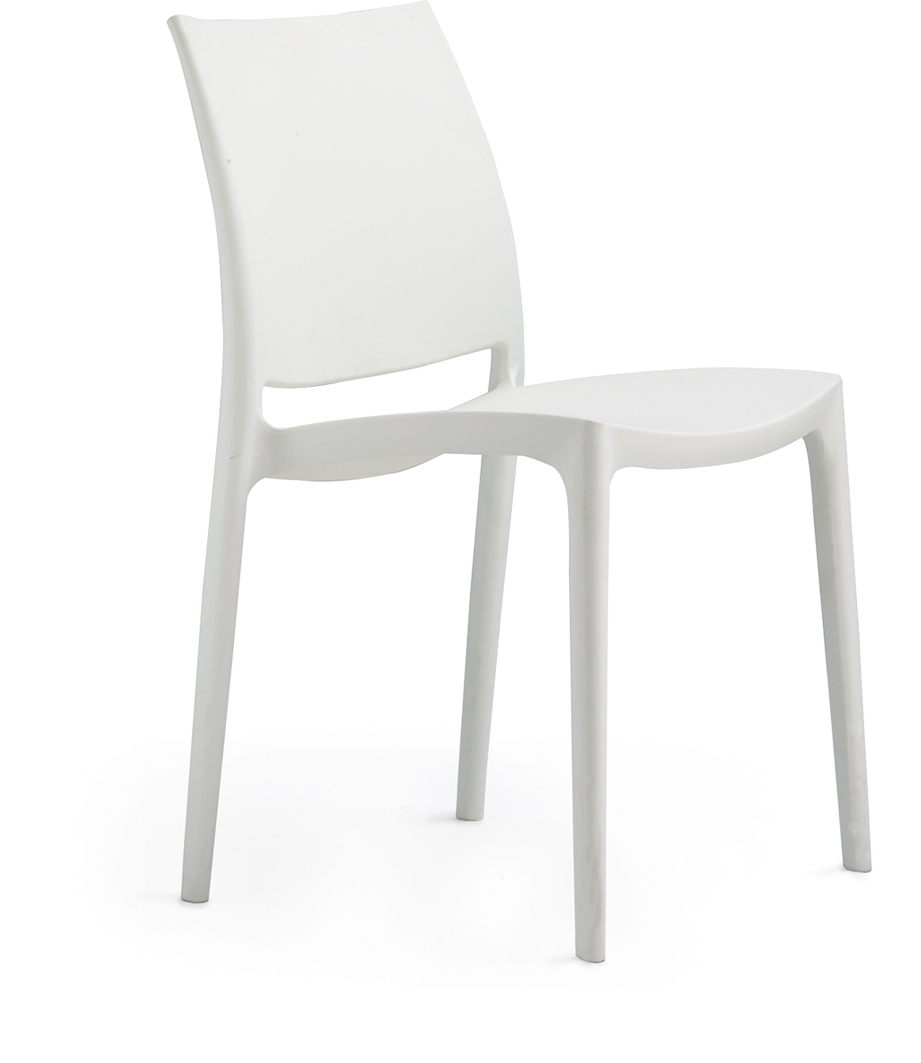 Wholesale colored solid plastic restaurant chair stacking chair white plastic chair view solid - White resin stacking chairs ...