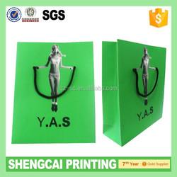 Green color Paper custom golf stand bag