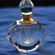 Nice crystal cut upscale glass bottle for perfume