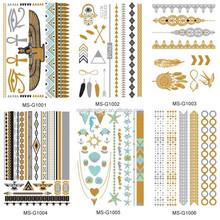 Stock Metallic Temporary Tattoo stickers Jewelry fashion design