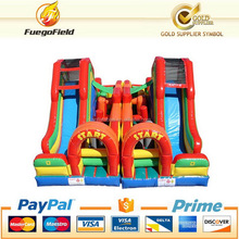 Cheap new products rainbow inflatable obstacle course