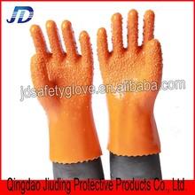 Orange stop slippery PVC safety working gloves