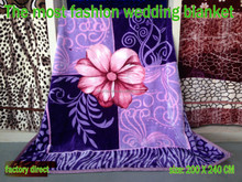 factory sales direct the most fashion wedding blanket with best price high quality
