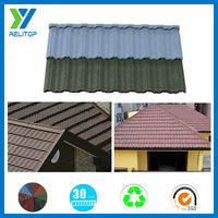 Sand granule coated durability decorative metal villa roof tile