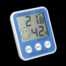 Digital LCD Thermometer Hygrometer Humidity Temperature Meter Indoor with Comfort Level Icon