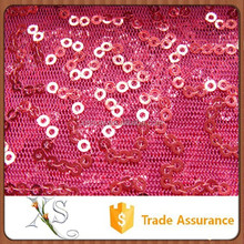 100 Polyester Embroidered Mesh Material Sequin Fabric