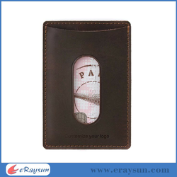 Leather Card Case Wallet Slim Super Thin