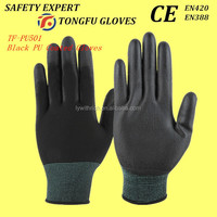 Hot sale PU coated nylon gloves EN388 4131 CE approved ladies nylon gloves