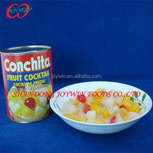 Miixed fruit cocktails supplier from China, ingredients in canned fruit cocktail