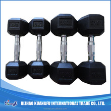 Competition Hex Rubber Dumbbell/Bodybuilding Equipment