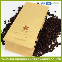 One way valve vented coffee bean packing bag
