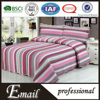 Factory supplier knitted cotton embroidered quilts bedspread/bed sheets design