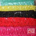 africano accesorios de la ropa de encaje de bolillos de poliéster con lentejuelas de tela de encaje con precio fascinante