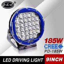 Offroad replacements High intensity 37cree 5w chips special blue color 9 inch 185watt led driving light